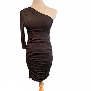 Express 3/4 Sleeve One Shoulder Cocktail Dress